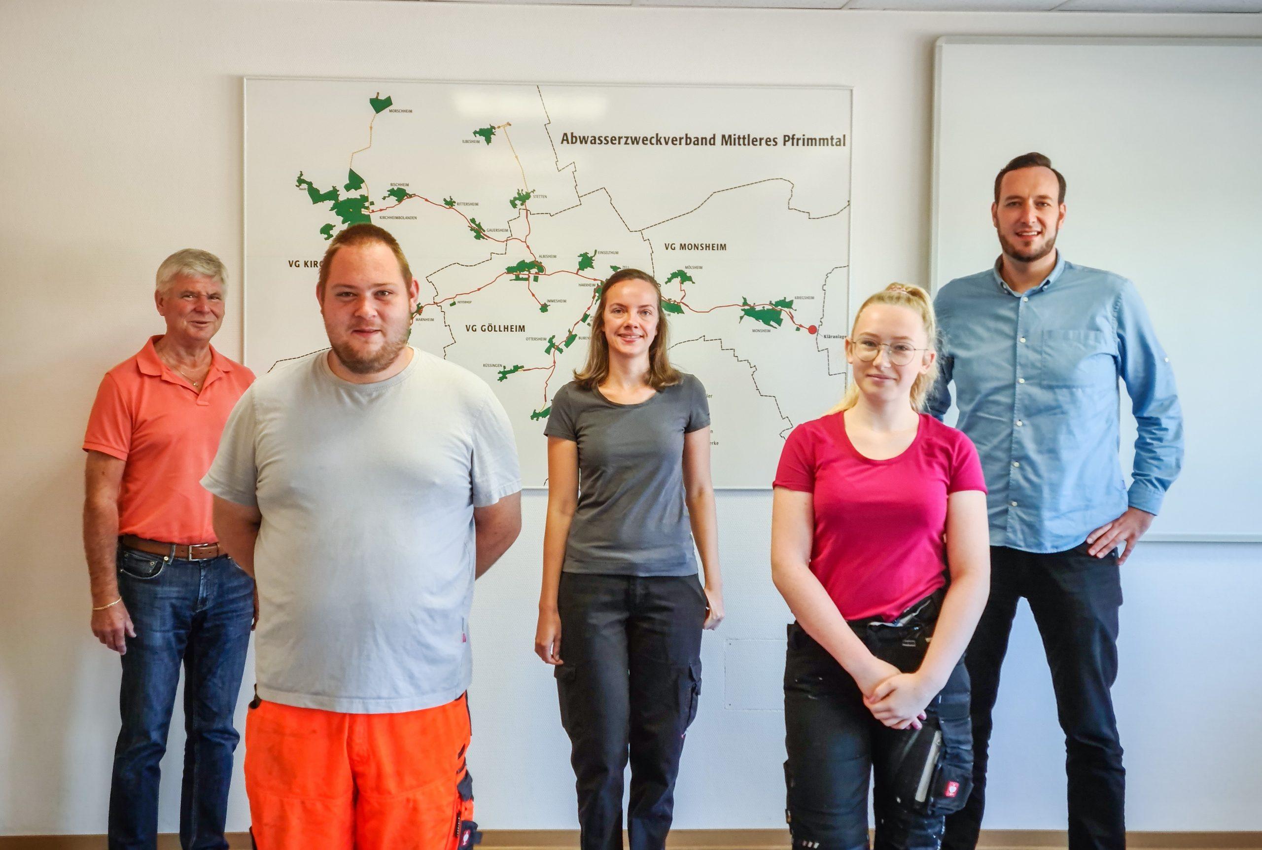 Neue Führungskräfte beim Abwasserzweckverband in Monsheim
